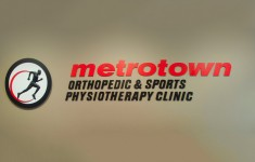 Metrotown wall logo